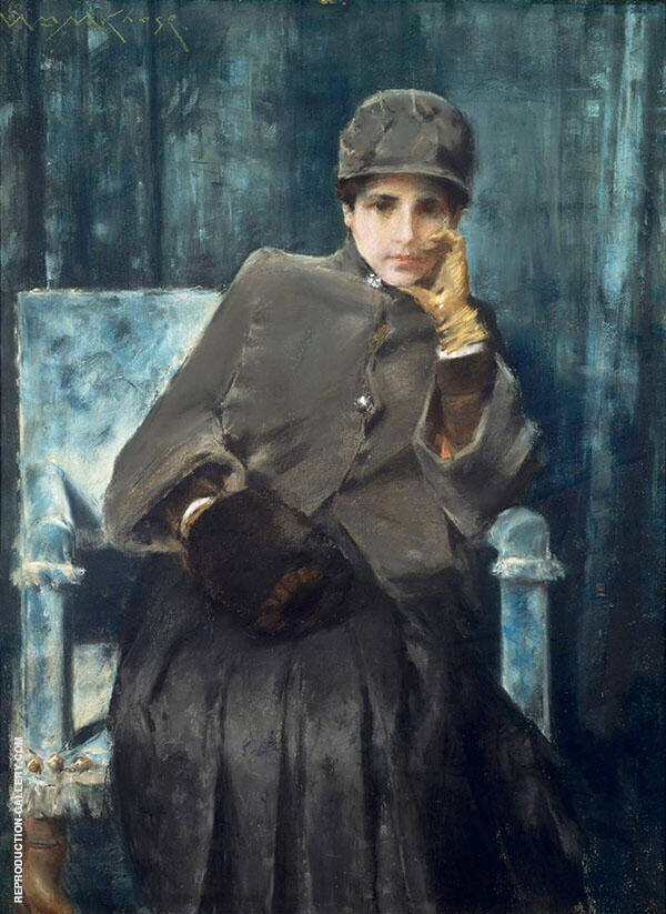 Meditation 1886 Painting By William Merritt Chase - Reproduction Gallery
