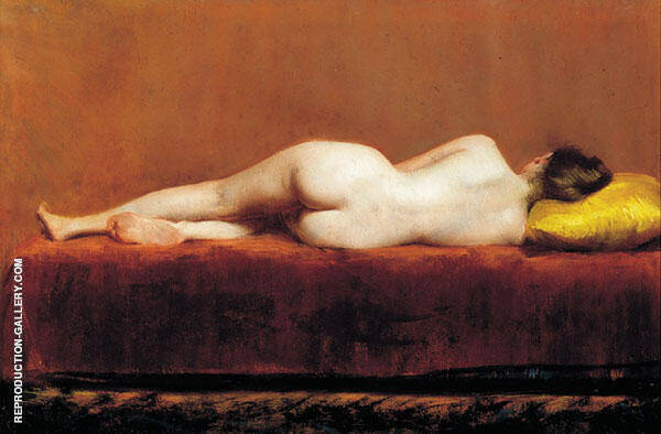 Nude Recumbent Painting By William Merritt Chase - Reproduction Gallery