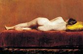 Nude Recumbent By William Merritt Chase