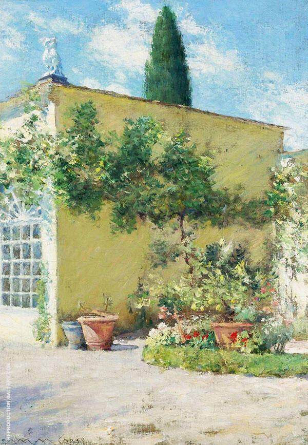 Orangerie of The Case Villa in Florence Painting By William Merritt Chase
