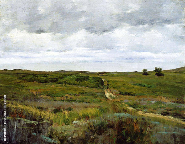Over The Hills and Far Away Painting By William Merritt Chase