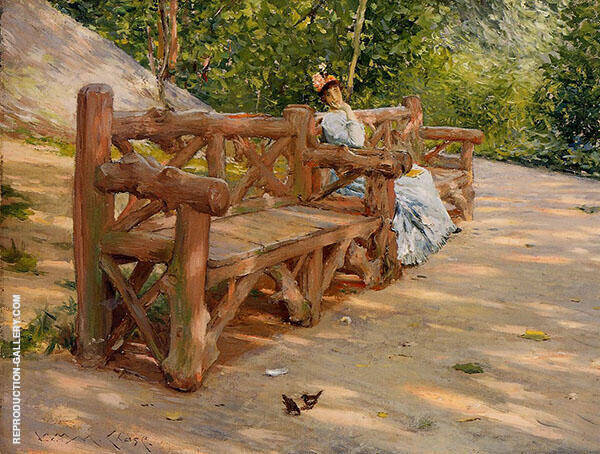 Park Bench Painting By William Merritt Chase - Reproduction Gallery