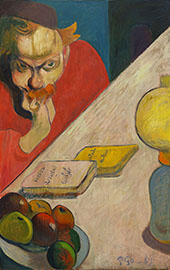 Portrait of Meyer de Hann by Lamplight 1889 By Paul Gauguin