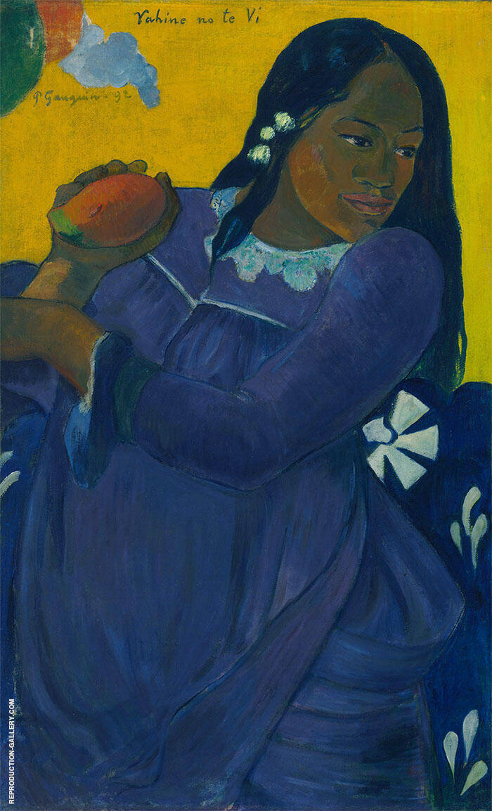 Woman of the Mango Vahine no te vi 1892 By Paul Gauguin