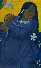 Woman of the Mango Vahine no te vi 1892 By Paul Gauguin