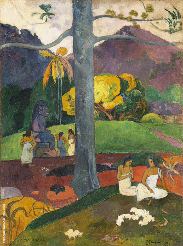 In the Olden Times, Mata Mua 1892 By Paul Gauguin