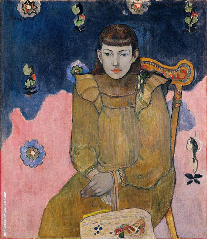 Portrait of a Young Woman, Jeanne Goupil 1896 By Paul Gauguin