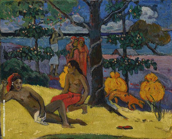 Women with Mangoes, Te Arii Vahine 1896 By Paul Gauguin