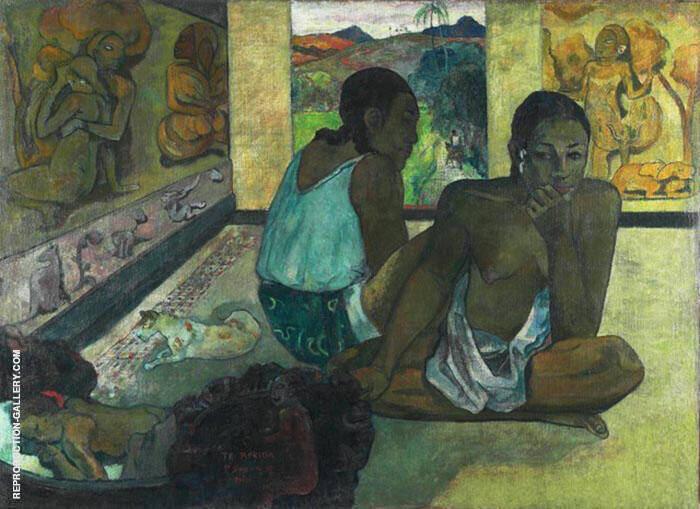 Lunchtime Talk Te Rerioa 1897 By Paul Gauguin