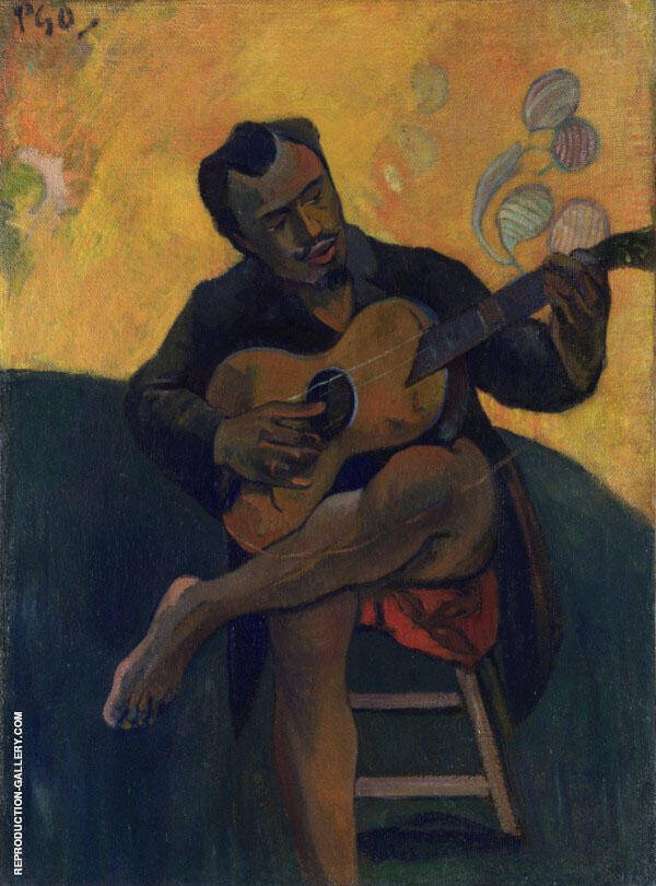 The Guitar Player 1894 By Paul Gauguin