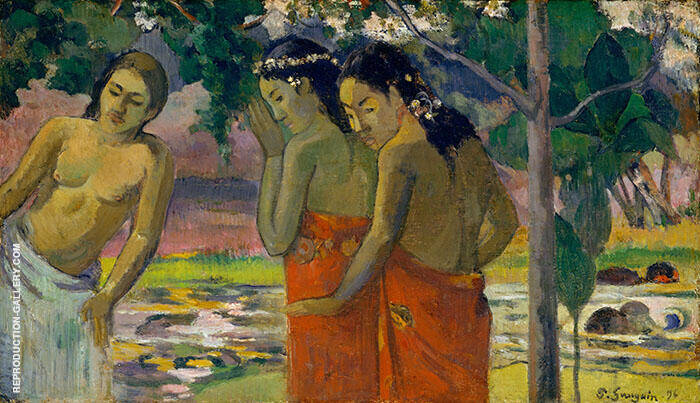 Three Tahitian Women 1896 By Paul Gauguin