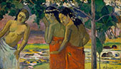 Three Tahitian Women 1896 By Paul Gauguin