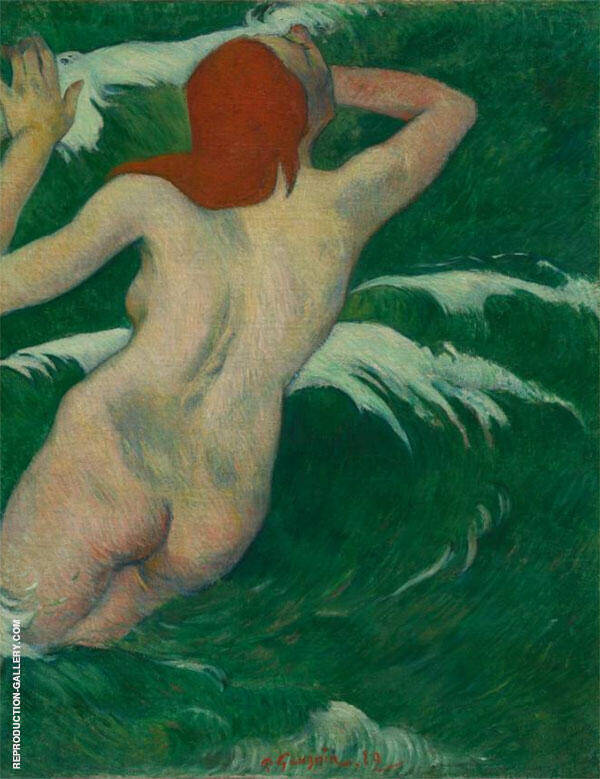 In the Waves 1889 By Paul Gauguin