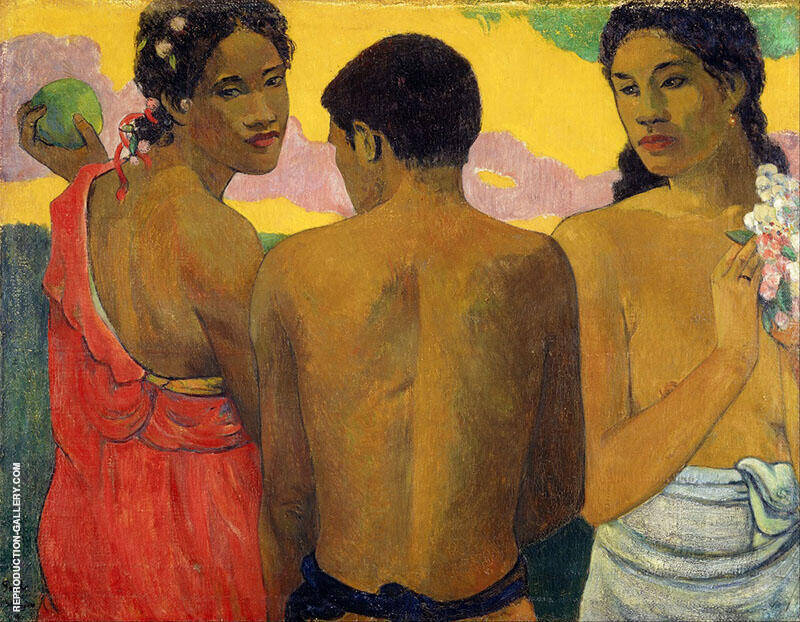 Three Tahitians 1899 By Paul Gauguin