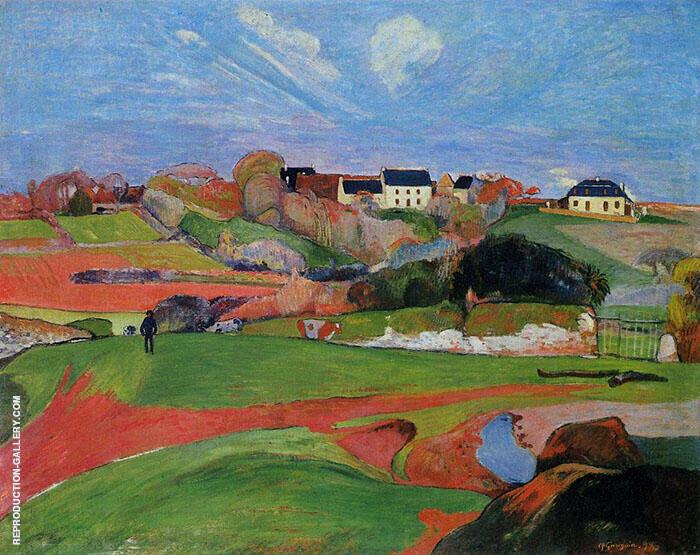Fields of Poldhu 1890 By Paul Gauguin