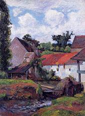 Farm in Osny 1882 By Paul Gauguin