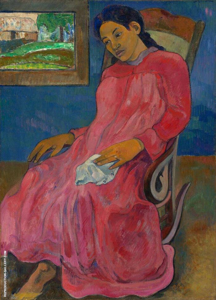Melancholic, Faaturuma 1891 By Paul Gauguin