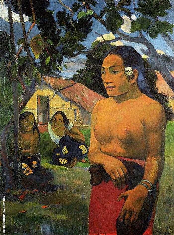 Where are you Going, E Haere Oe Hia 1892 By Paul Gauguin