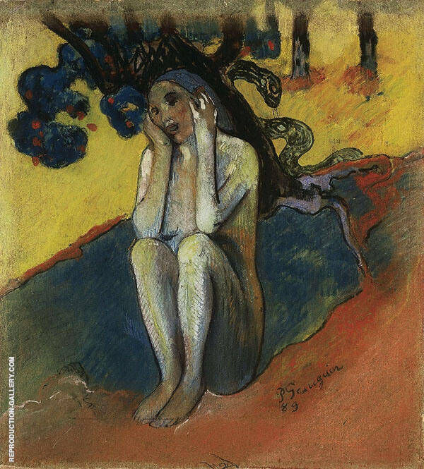 Eve Don't Listen to the Liar By Paul Gauguin