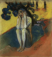 Eve Don't Listen to the Liar By Paul Gauguin