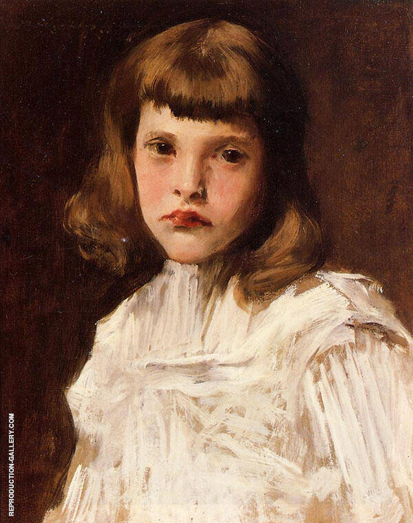 Portrait of Dorothy Painting By William Merritt Chase