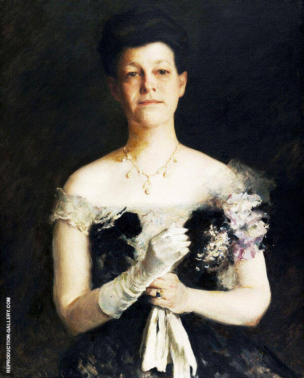 Portrait of Lavinia Borden Cook Painting By William Merritt Chase