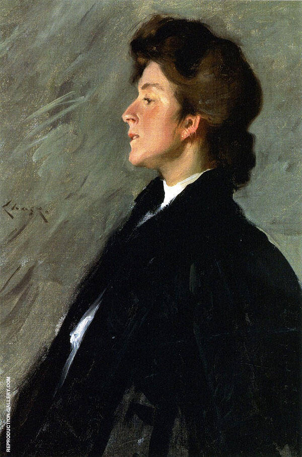 Portrait of Miss Bellemy By William Merritt Chase