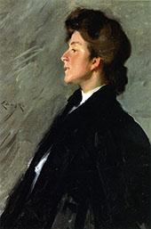 Portrait of Miss Bellemy By William Merritt Chase