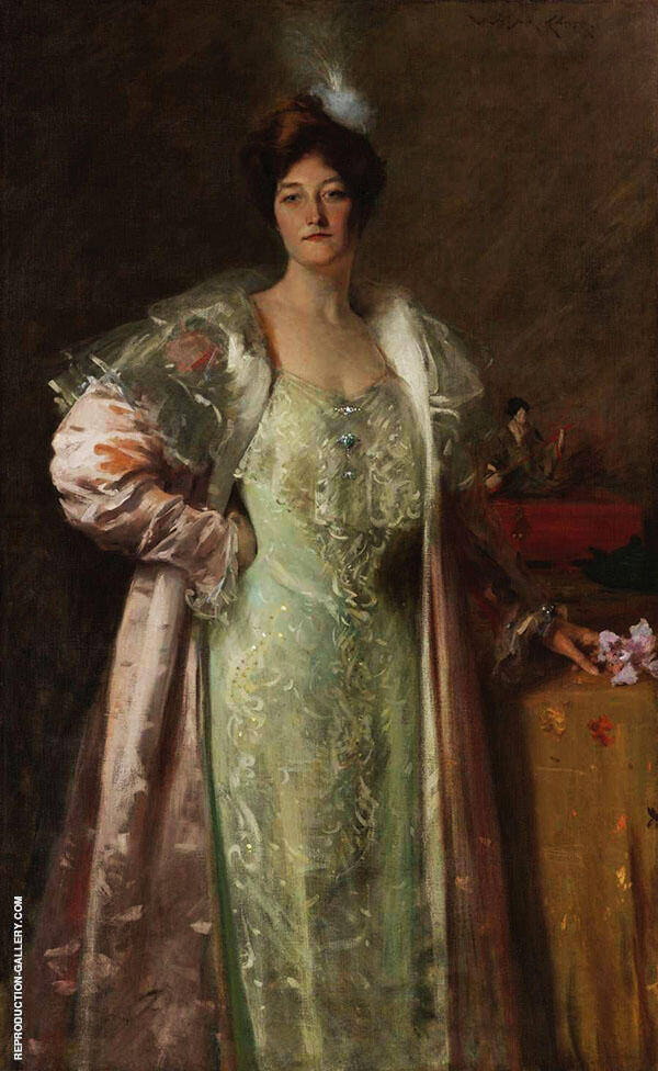 Portrait of Miss J 1902 Painting By William Merritt Chase