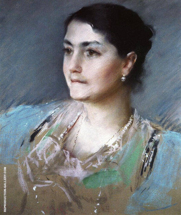 Portrait of Mrs William Chase By William Merritt Chase