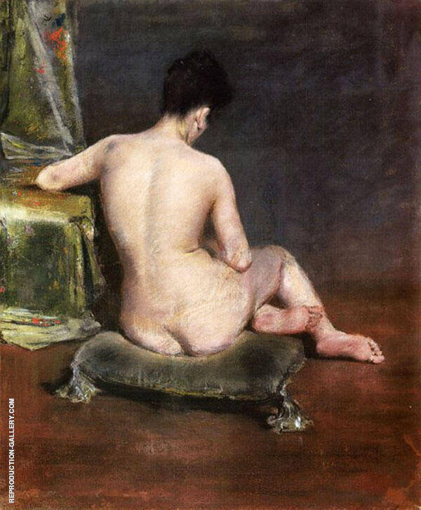 Pure The Model c1888 Painting By William Merritt Chase