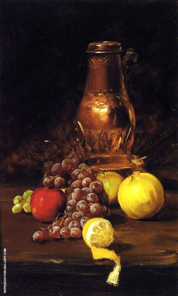 Still Life with Fruit By William Merritt Chase