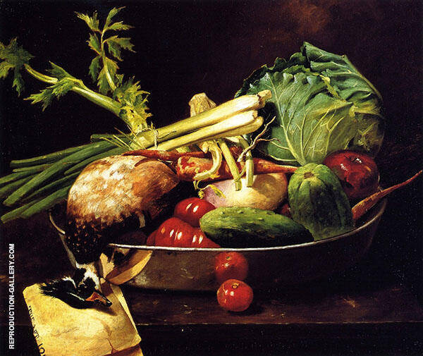 Still Life with Vegetables By William Merritt Chase