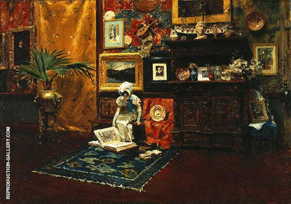 Studio Interior c1882 Painting By William Merritt Chase