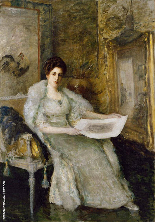 Susan Watkins 1914 Painting By William Merritt Chase