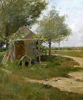 The Back Yard Shinnecock Long Island New York By William Merritt Chase