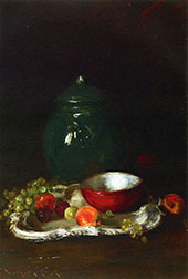 The Little Red Bowl By William Merritt Chase