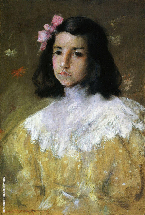 The Pink Bow Painting By William Merritt Chase - Reproduction Gallery