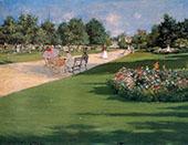 Tompkins Park Brooklyn By William Merritt Chase