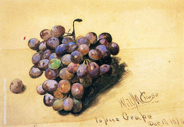 Topaz Grapes By William Merritt Chase