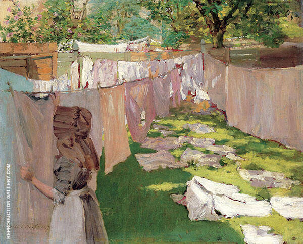 Wash Day A Back Yard Reminiscence of Brooklyn 1886 By William Merritt Chase