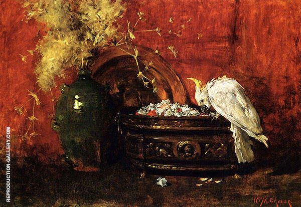 White Cockatoo Painting By William Merritt Chase - Reproduction Gallery