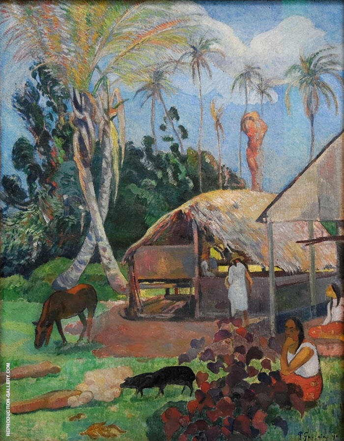 The Black Pigs 1891 By Paul Gauguin