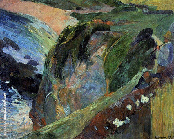 Flageolet Player on the Cliffs 1889 By Paul Gauguin