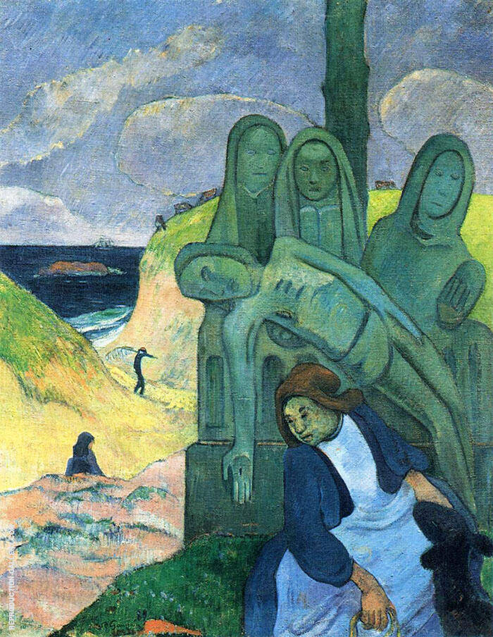 Green Christ Breton Calvary 1889 By Paul Gauguin