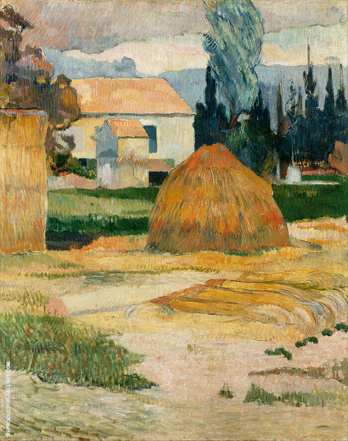 Haystack near Arles 1888 By Paul Gauguin