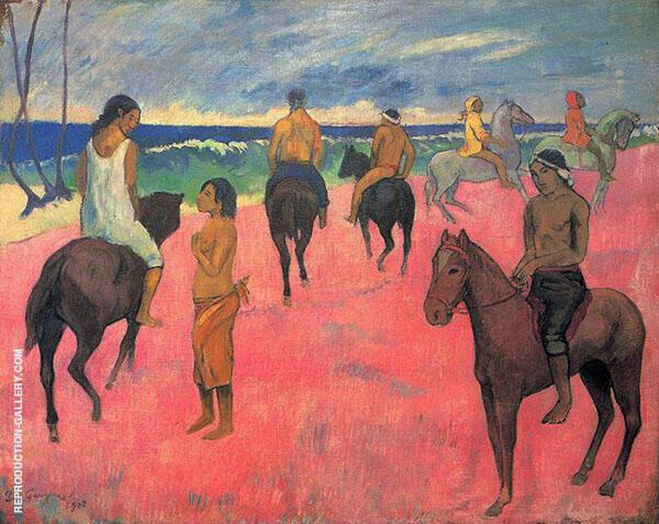 Horsemen on the Beach 1902 By Paul Gauguin
