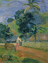 Horse on the Road, Tahitian Landscape 1899 By Paul Gauguin