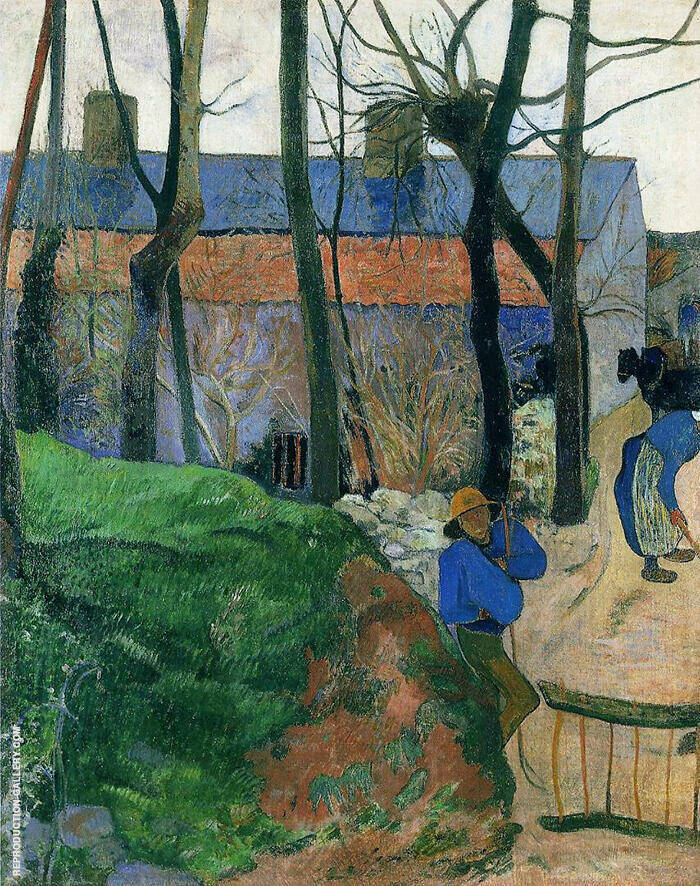 House in Pouldu 1890 By Paul Gauguin