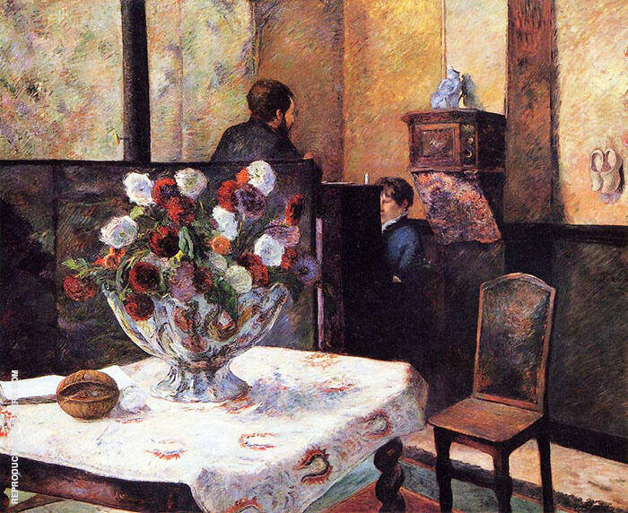 Interior of the Painters House Rue Carcel 1881 By Paul Gauguin